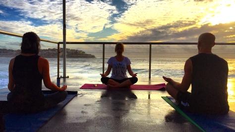 yoga at icebergs club bondi